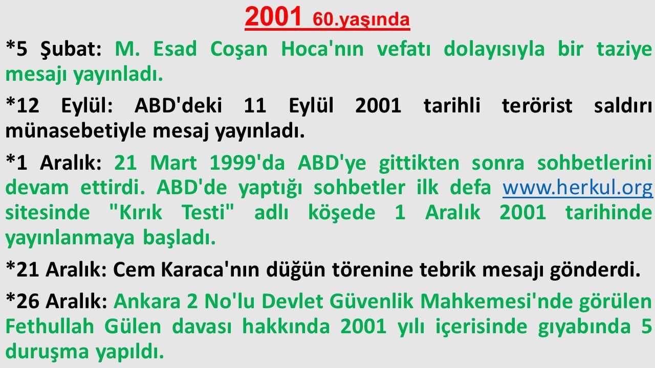 2001 60.yaşında