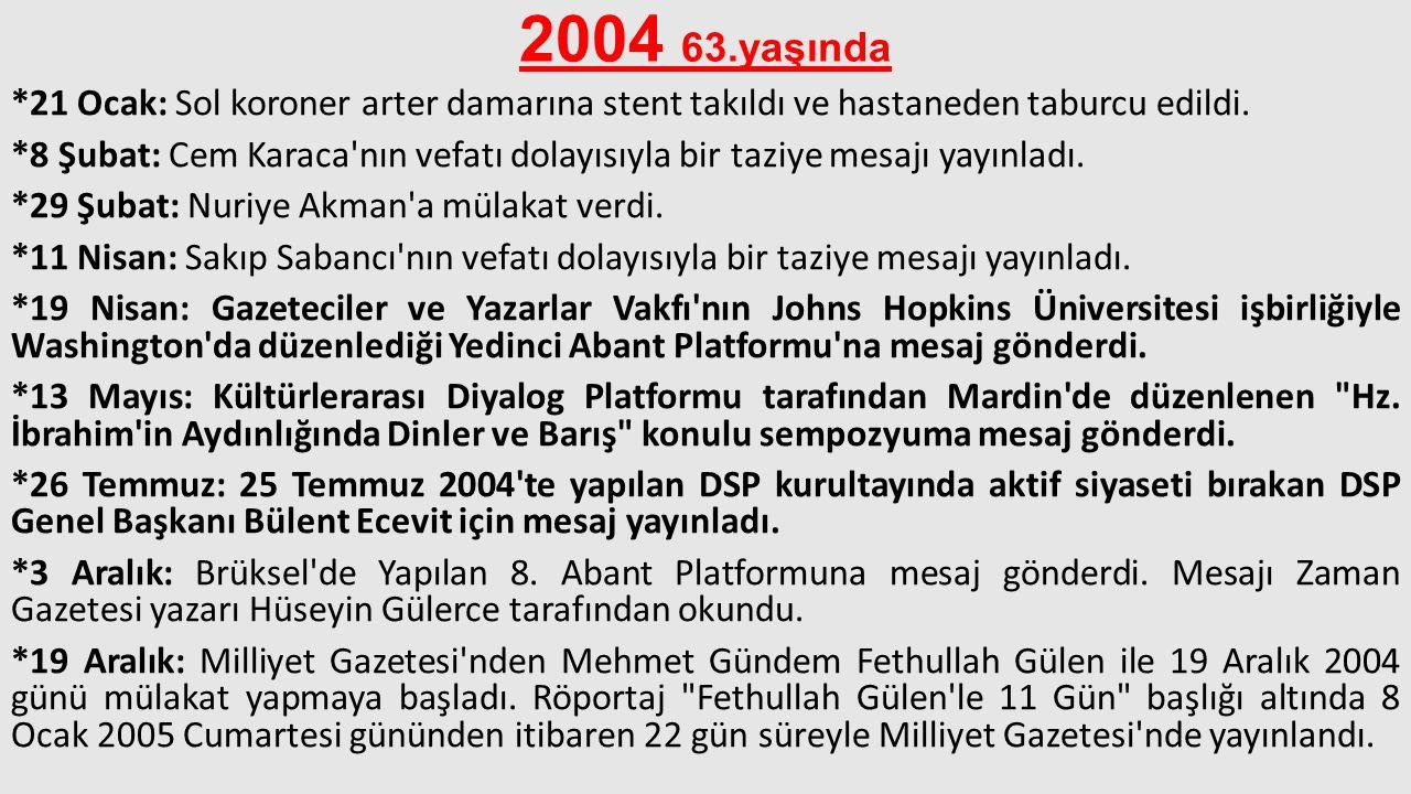 2004 63.yaşında