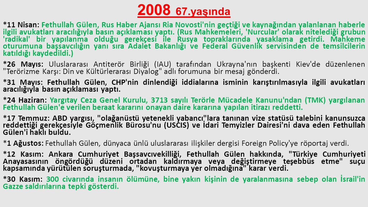 2008 67.yaşında