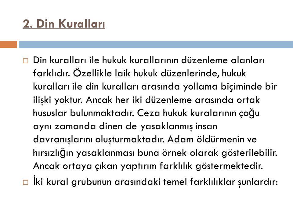 2. Din Kuralları