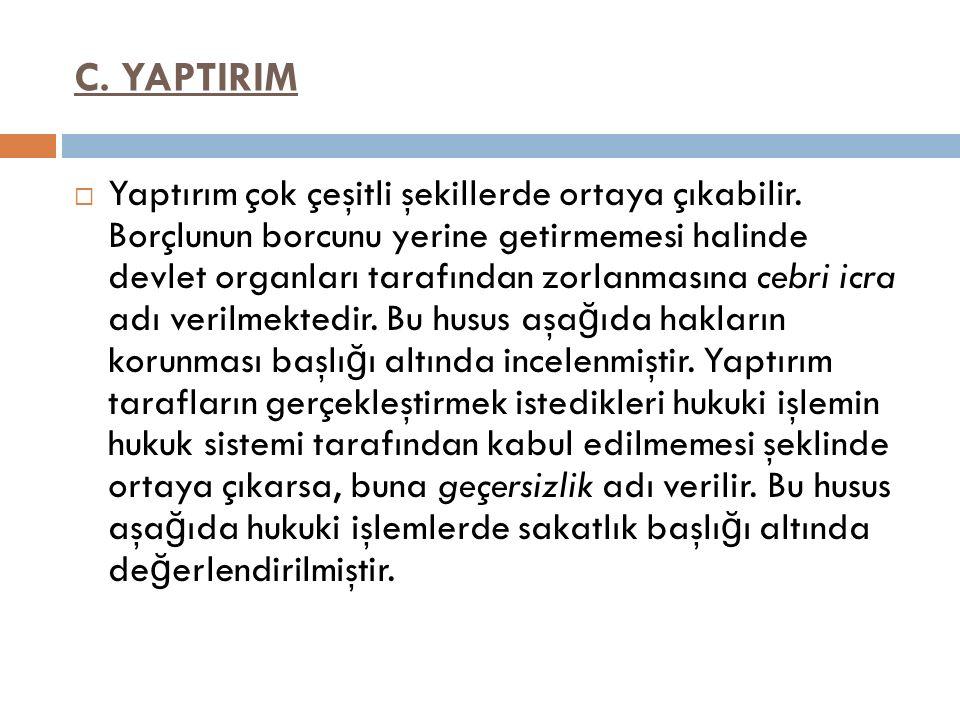 C. YAPTIRIM