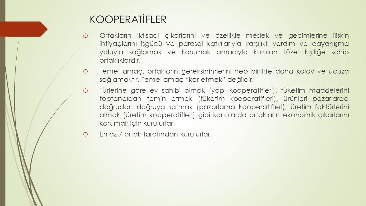 KOOPERATİFLER