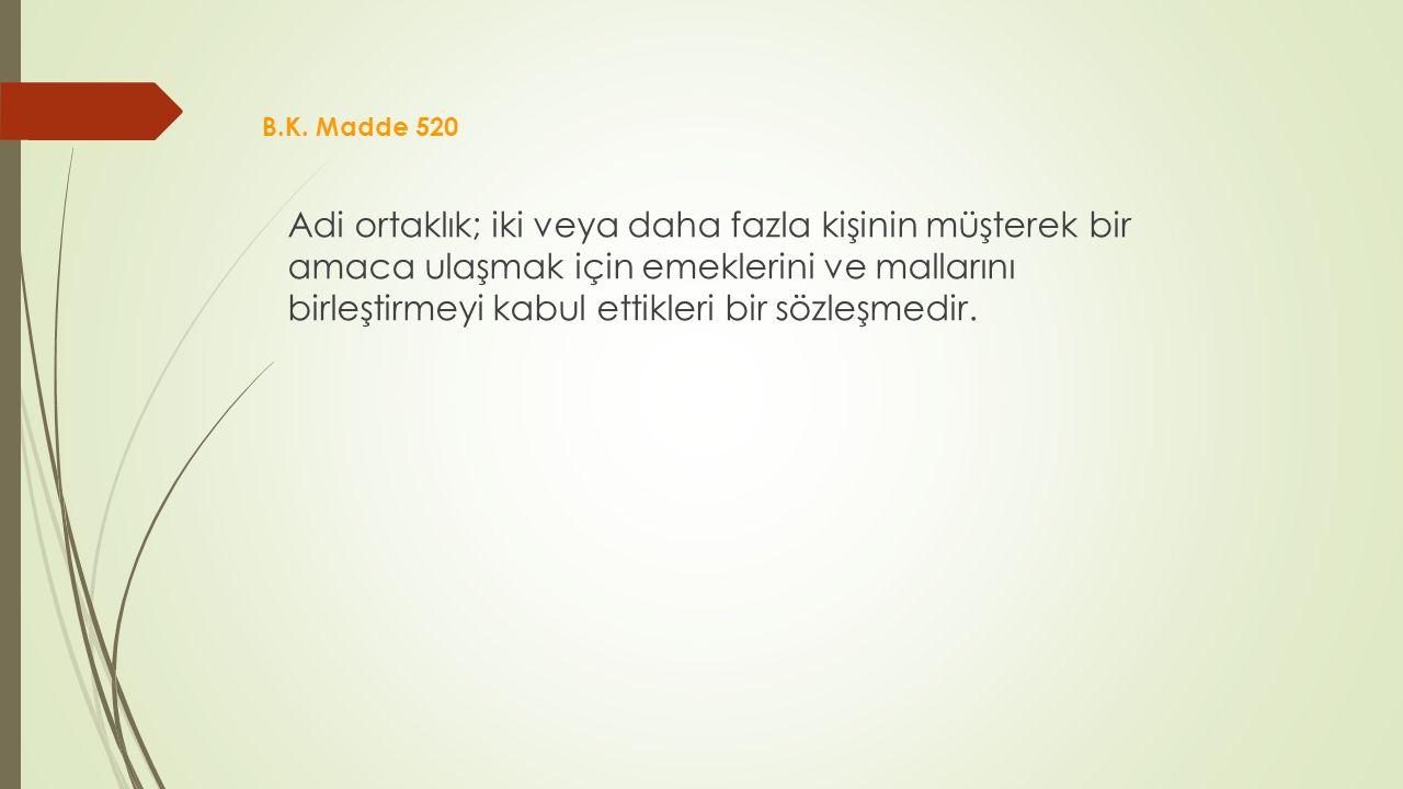 B.K. Madde 520