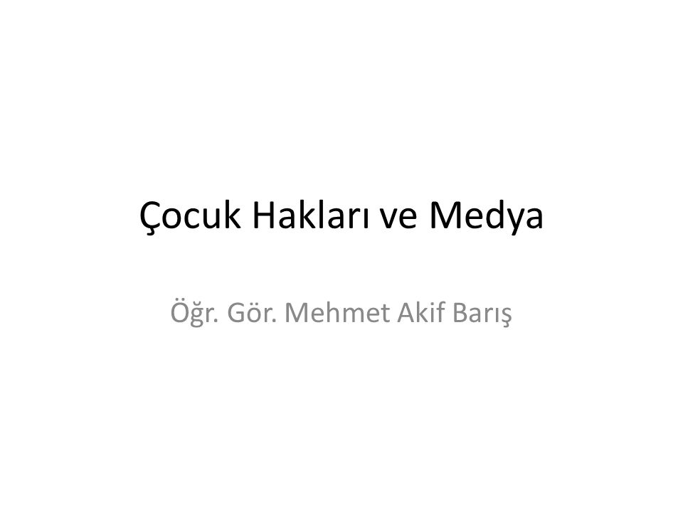Öğr. Gör. Mehmet Akif Barış
