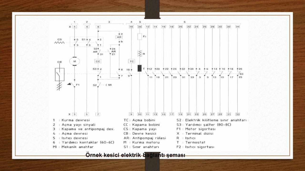 Örnek kesici elektrik bağlantı şeması