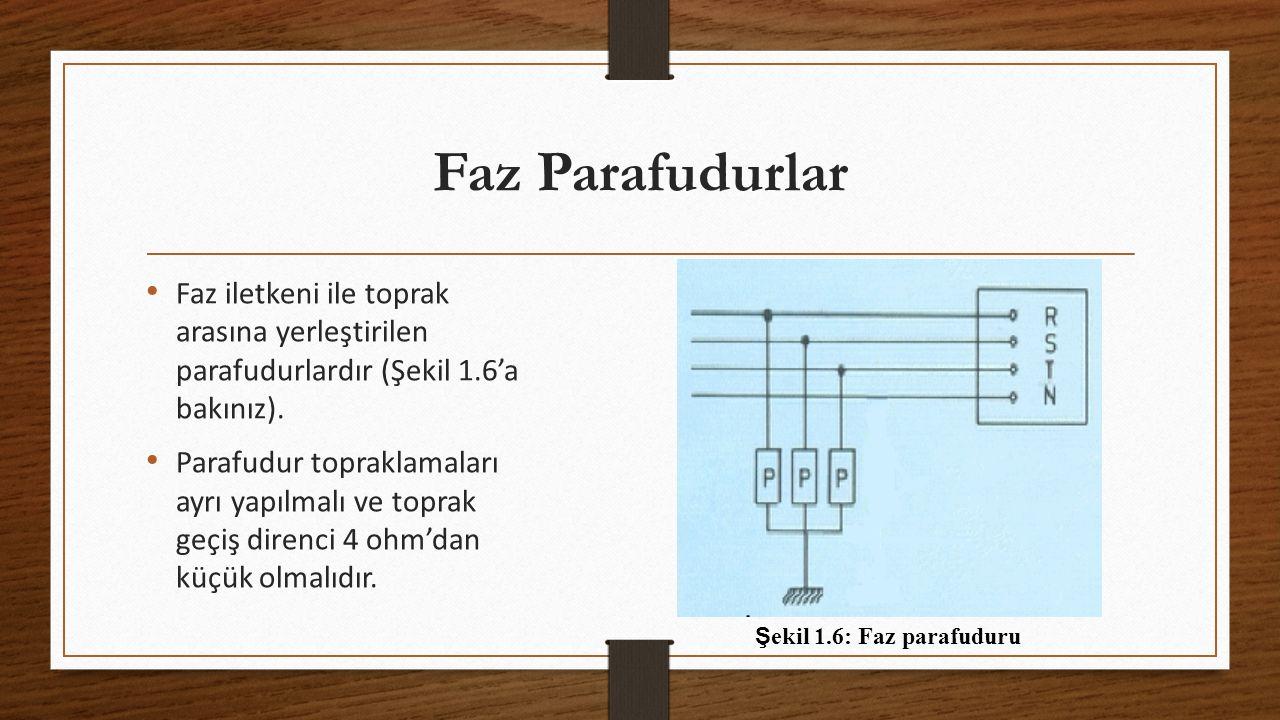Faz Parafudurlar Faz iletkeni ile toprak arasına yerleştirilen parafudurlardır (Şekil 1.6'a bakınız).