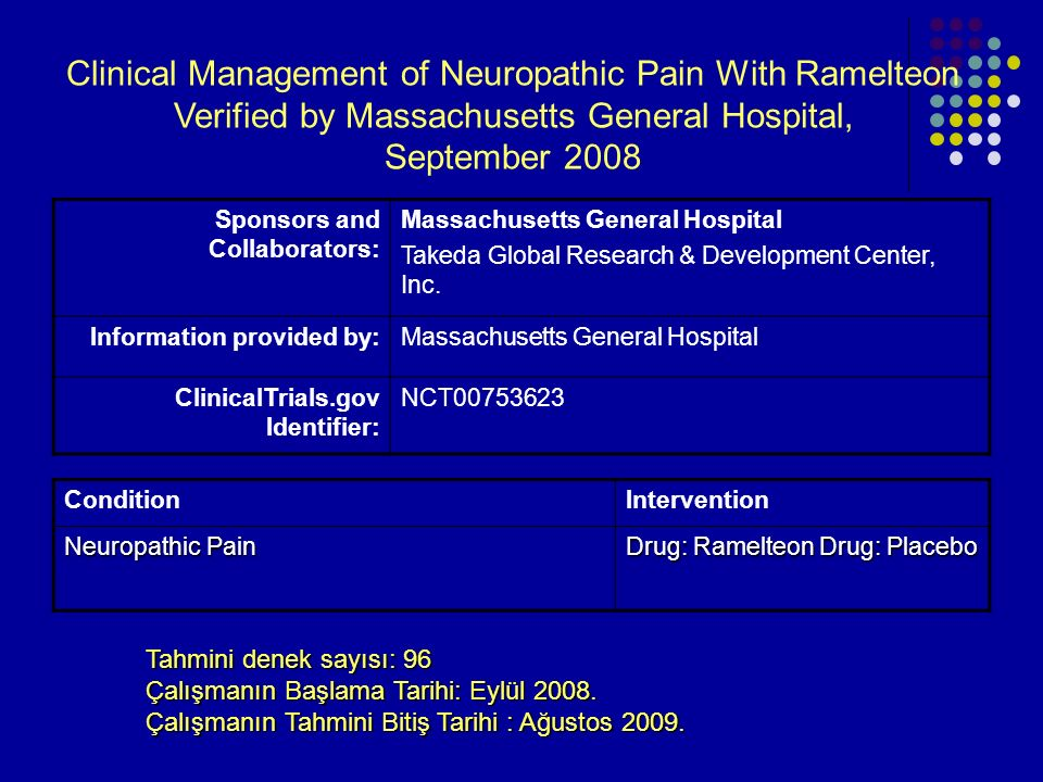 Clinical Management of Neuropathic Pain With Ramelteon