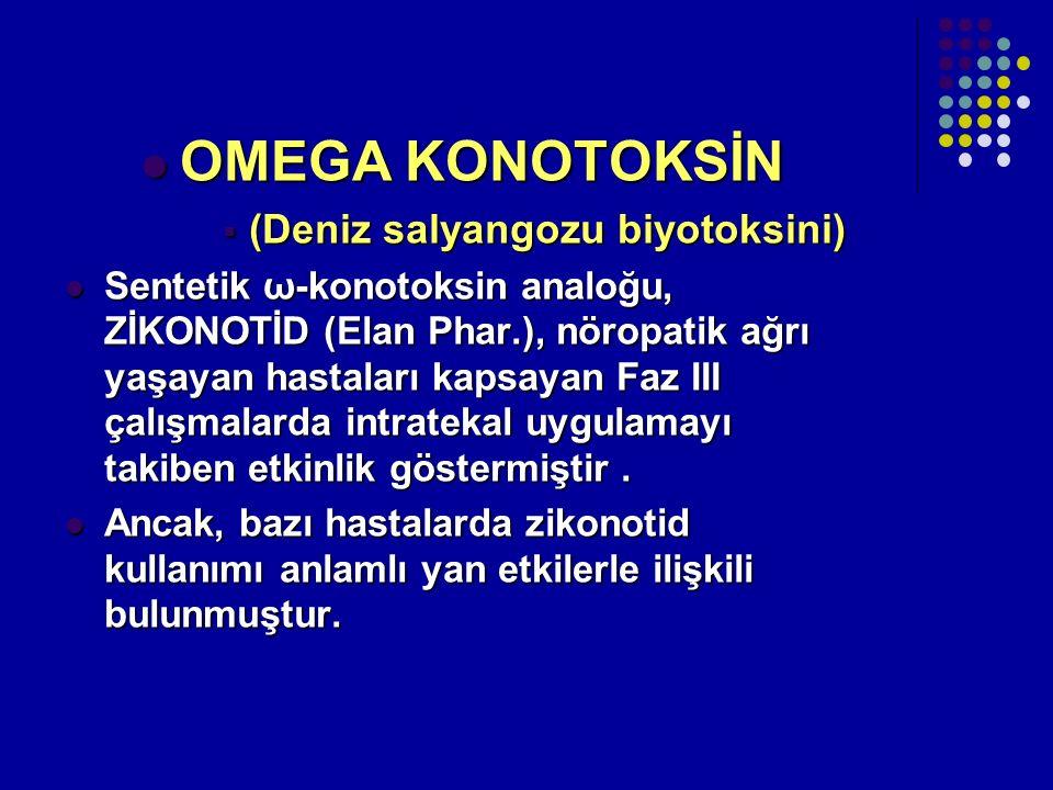 OMEGA KONOTOKSİN (Deniz salyangozu biyotoksini)