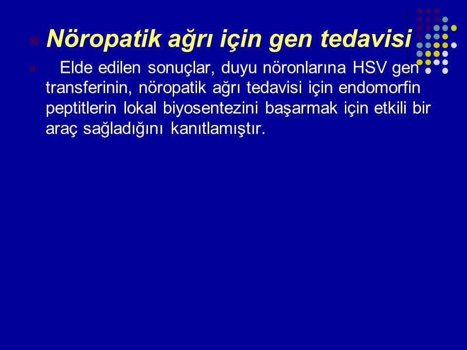 Nöropatik ağrı için gen tedavisi