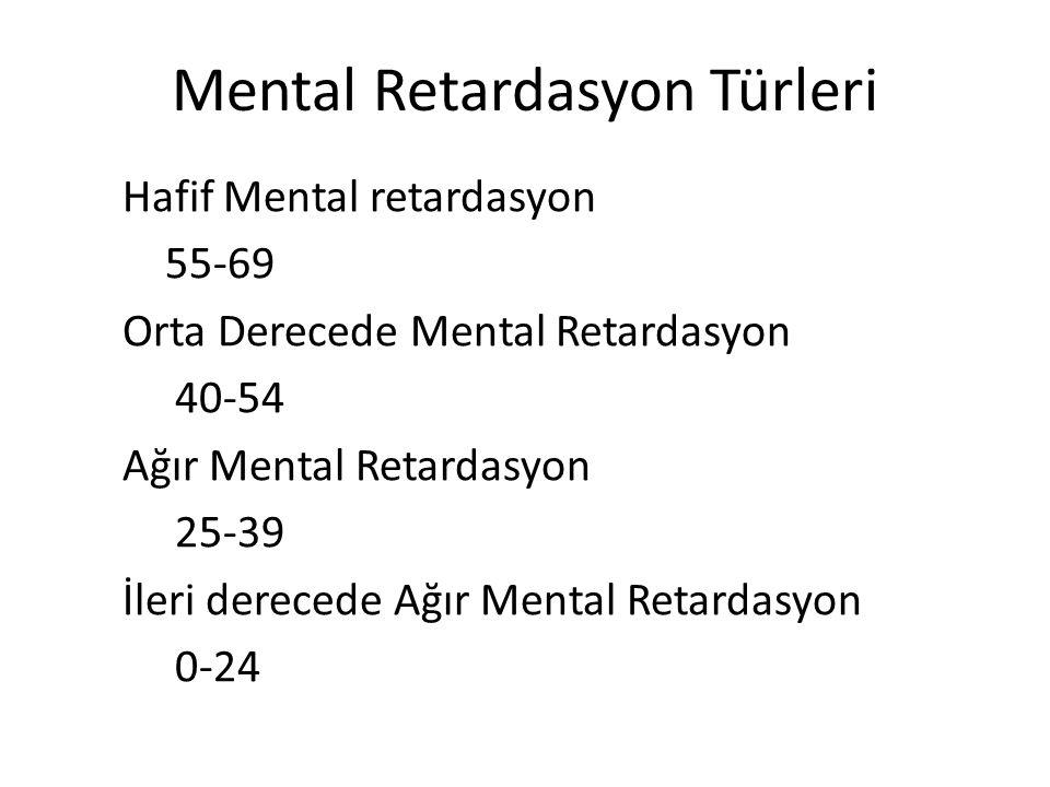 Mental Retardasyon Türleri