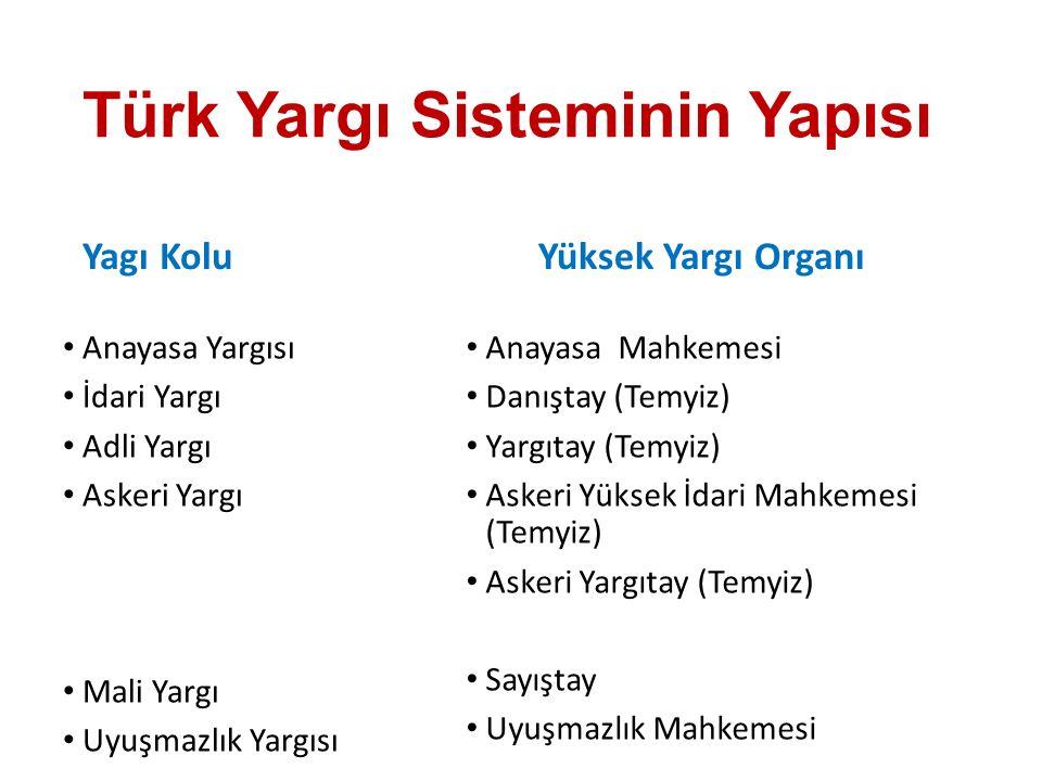 Türk Yargı Sisteminin Yapısı