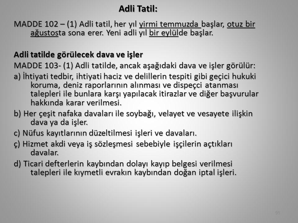 Adli Tatil:
