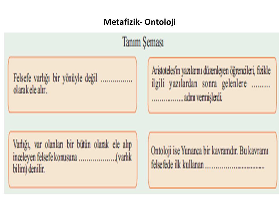 Metafizik- Ontoloji