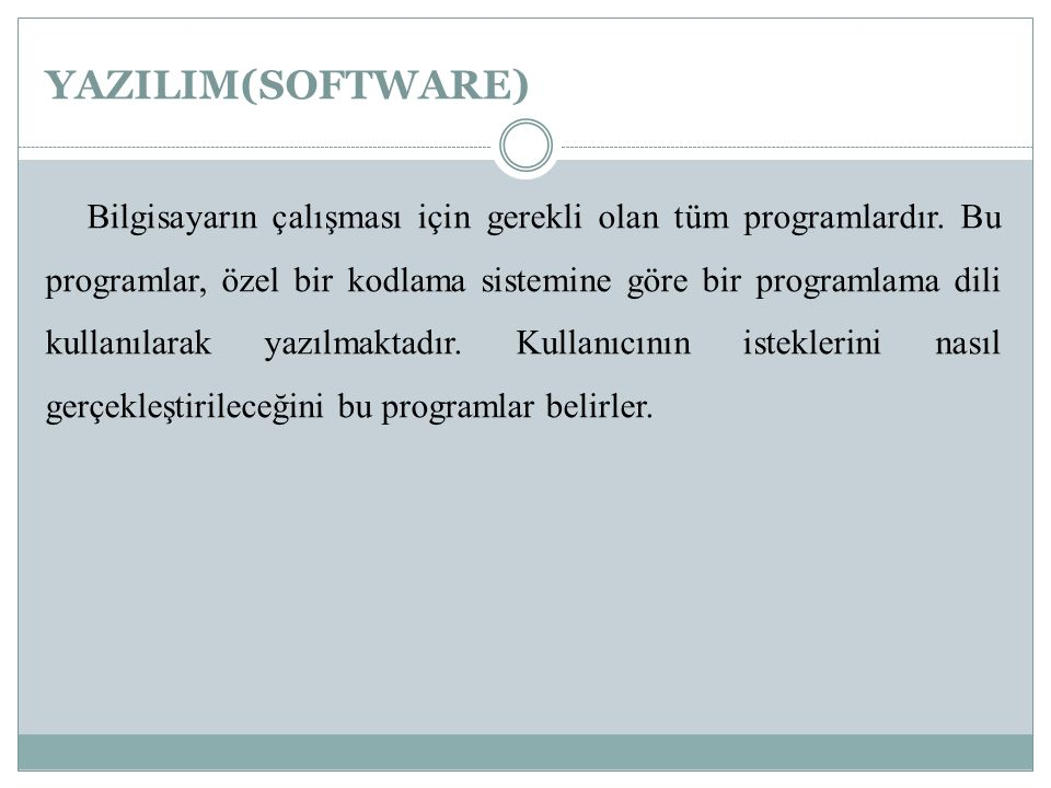 YAZILIM(SOFTWARE)
