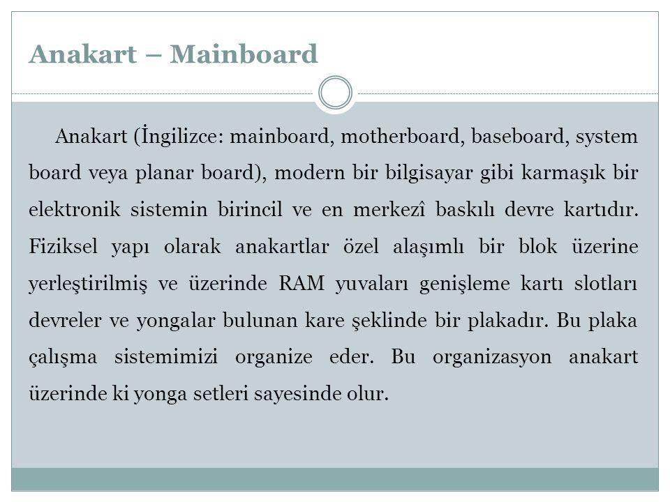 Anakart – Mainboard