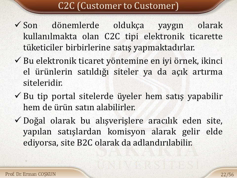 C2C (Customer to Customer)