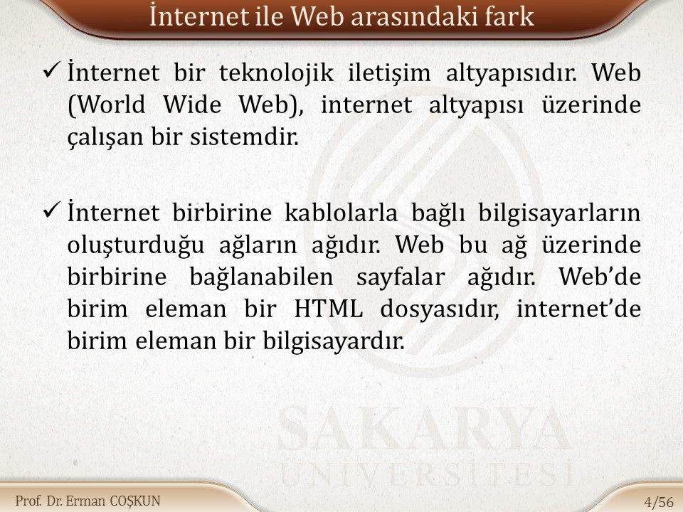 İnternet ile Web arasındaki fark