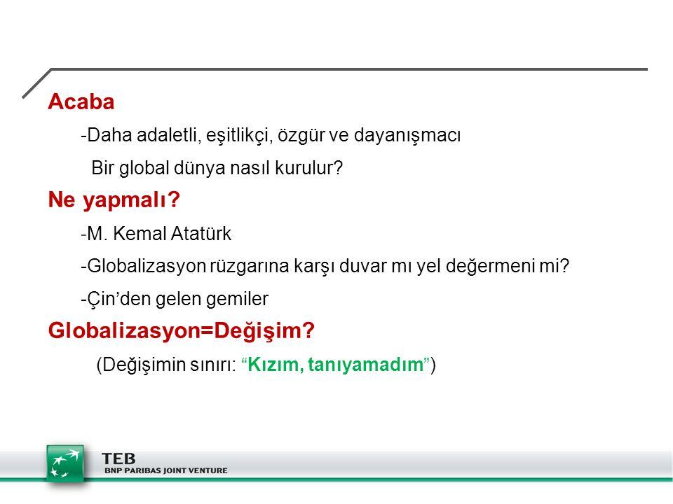 Globalizasyon=Değişim