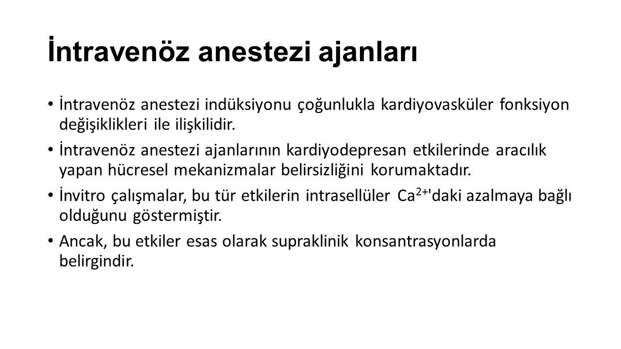 İntravenöz anestezi ajanları