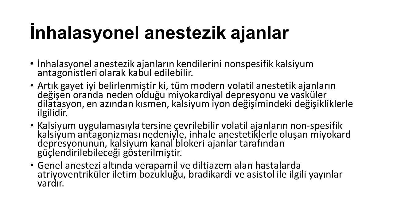 İnhalasyonel anestezik ajanlar