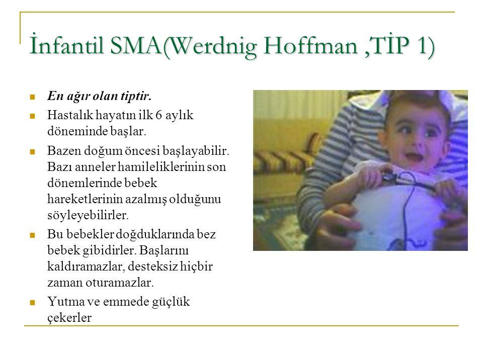 İnfantil SMA(Werdnig Hoffman ,TİP 1)