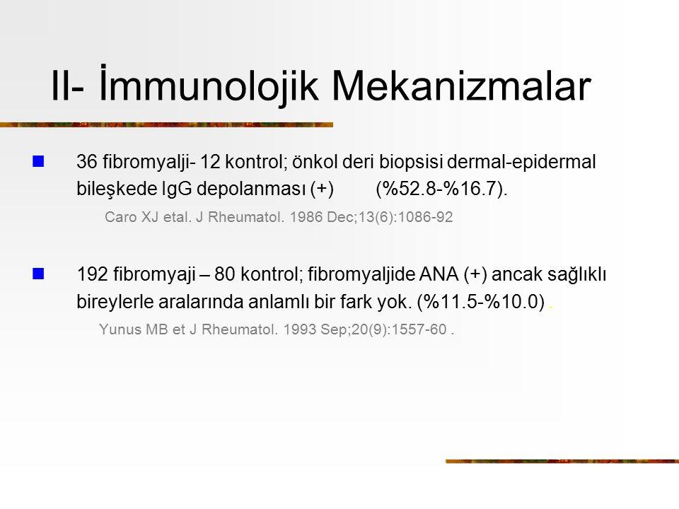 II- İmmunolojik Mekanizmalar
