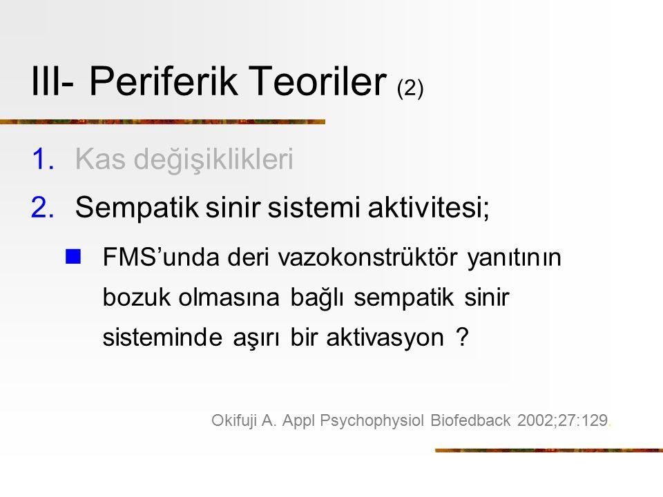 III- Periferik Teoriler (2)