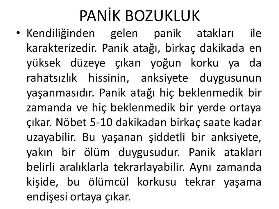 PANİK BOZUKLUK