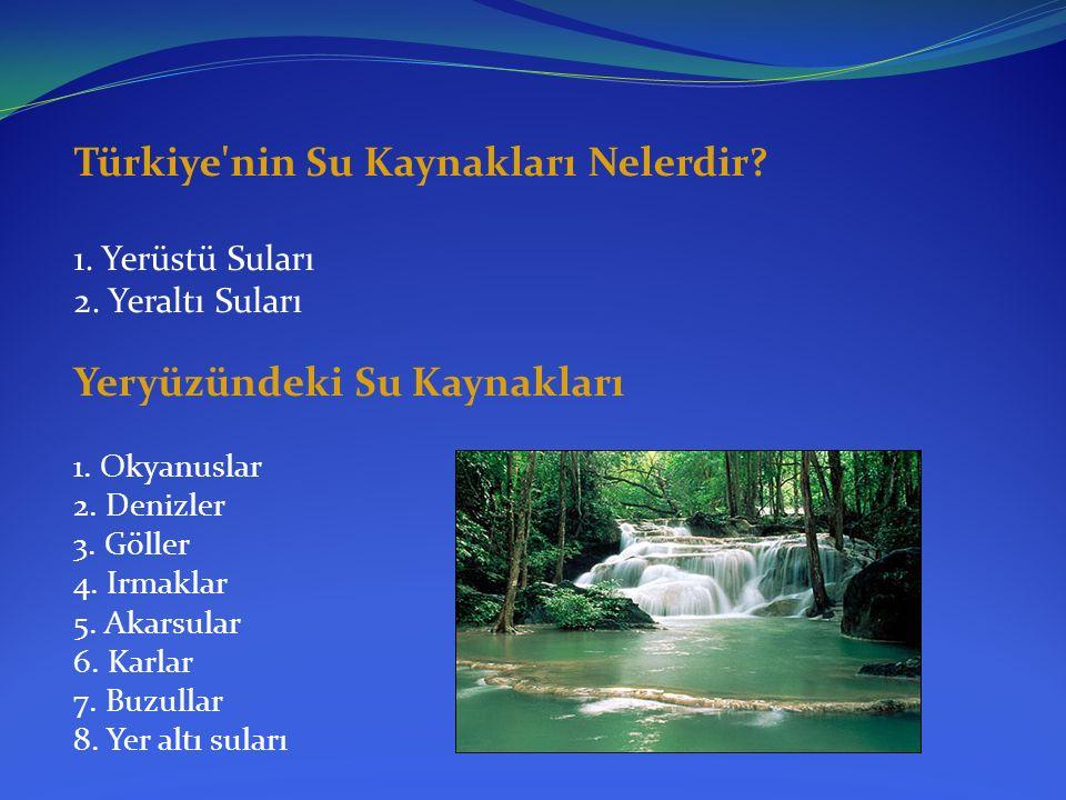 Türkiye nin Su Kaynakları Nelerdir