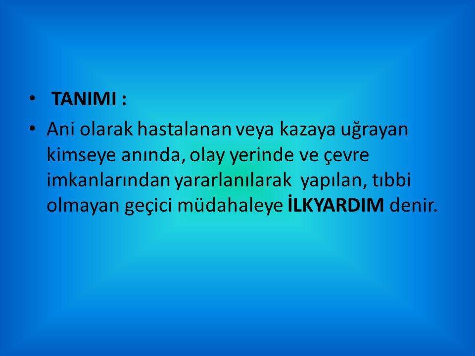 TANIMI :