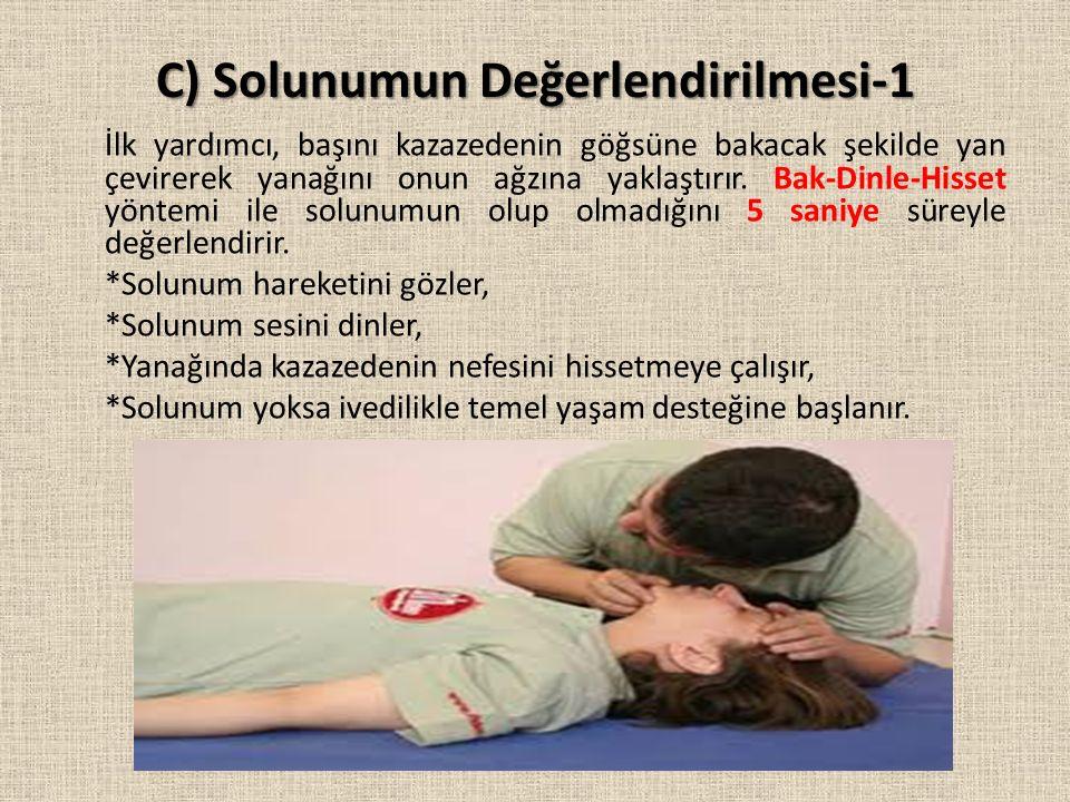 C) Solunumun Değerlendirilmesi-1
