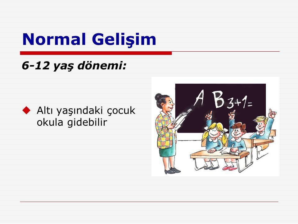 Normal Gelişim 6-12 yaş dönemi: Altı yaşındaki çocuk okula gidebilir