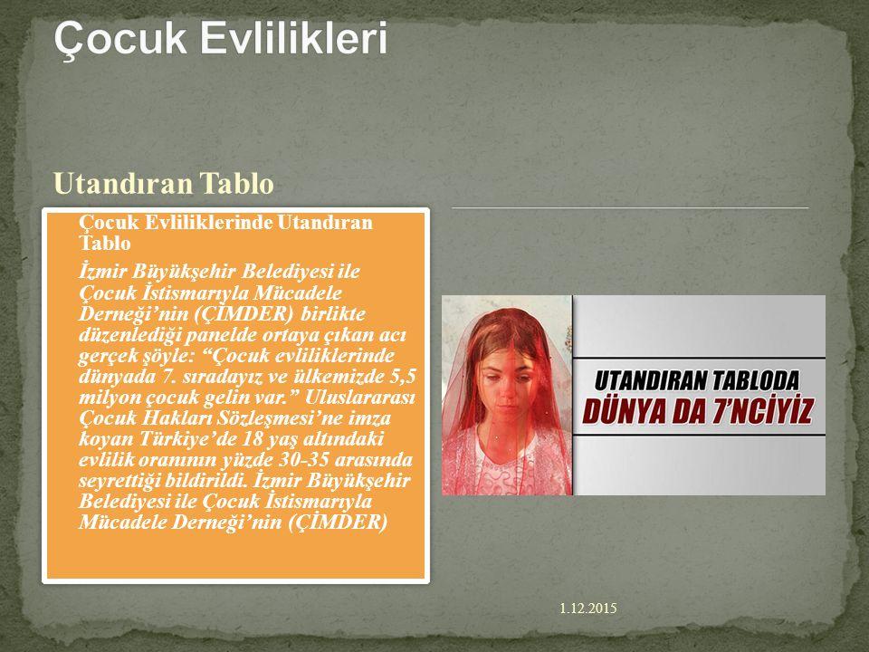 Çocuk Evlilikleri Utandıran Tablo Çocuk Evliliklerinde Utandıran Tablo