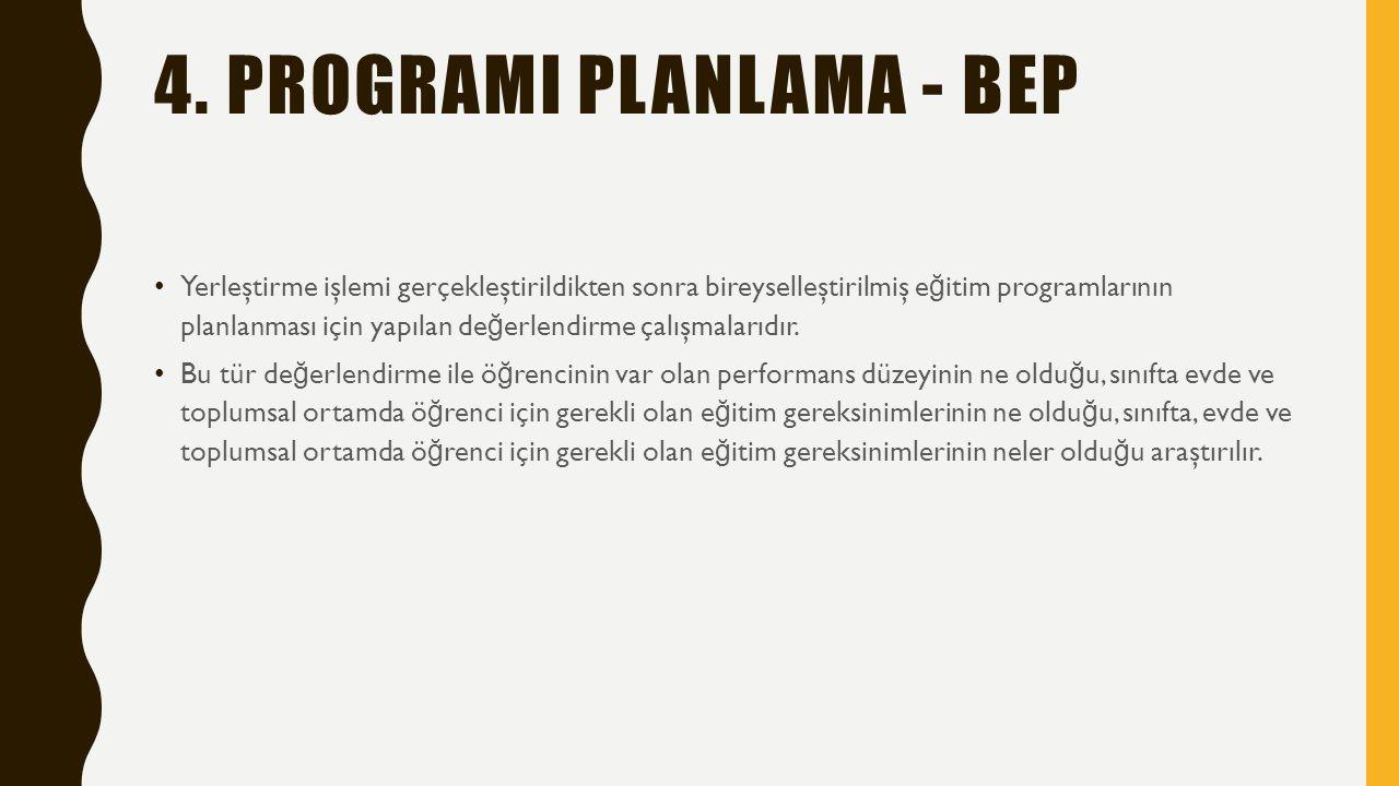 4. PROGRAMI PLANLAMA - BEP