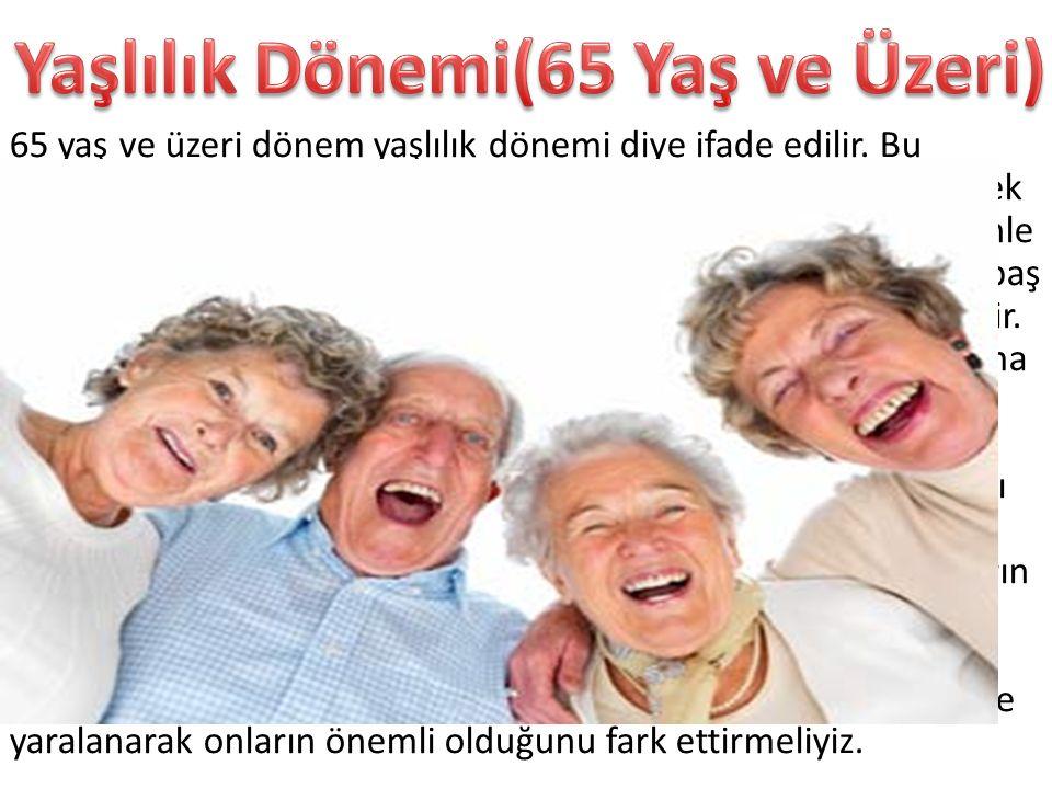 Yaşlılık Dönemi(65 Yaş ve Üzeri)