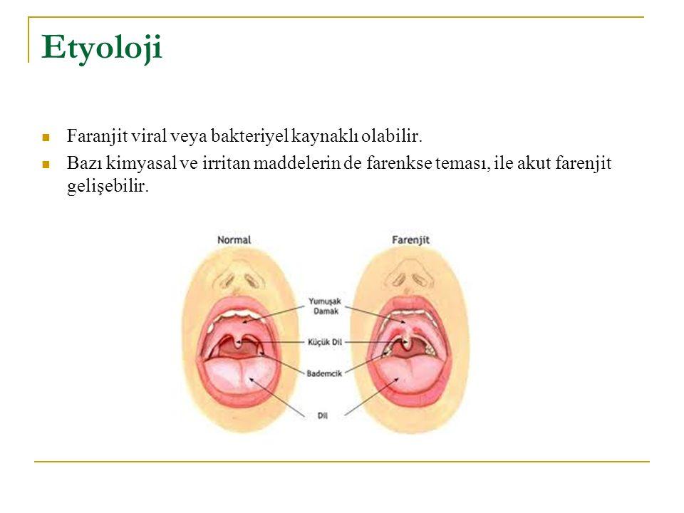 Etyoloji Faranjit viral veya bakteriyel kaynaklı olabilir.