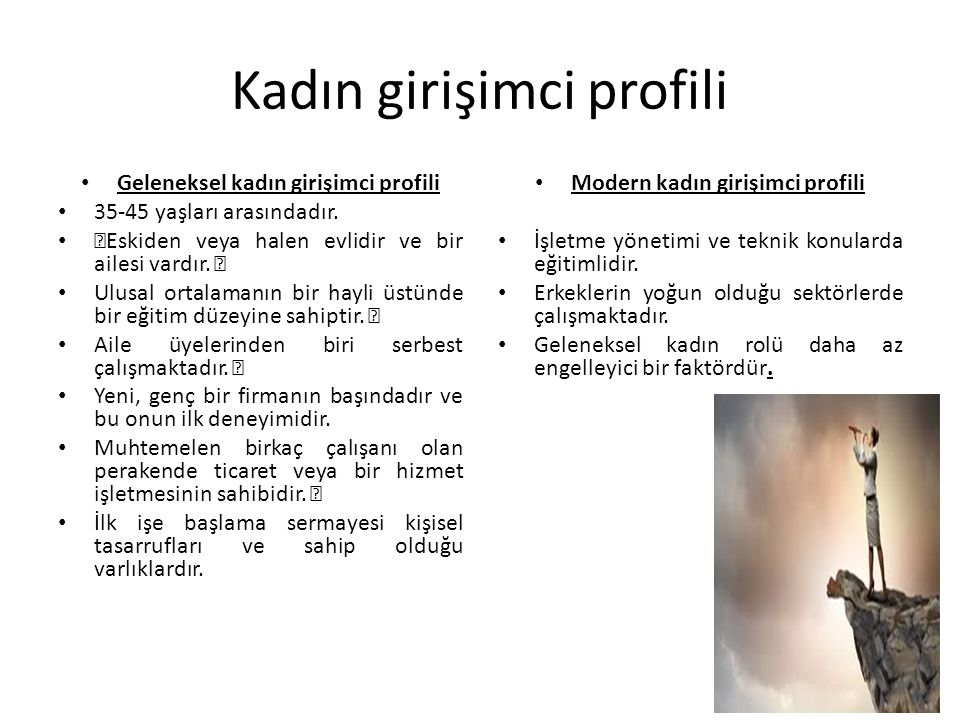 Kadın girişimci profili