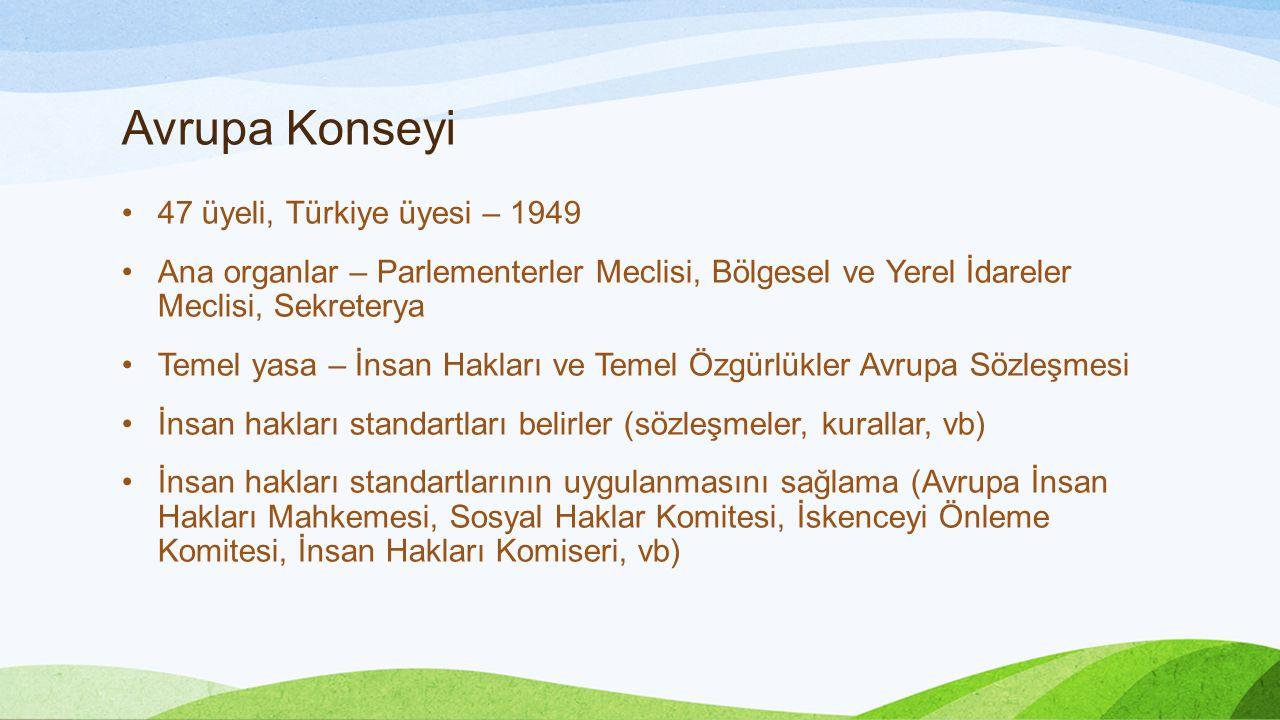 Avrupa Konseyi 47 üyeli, Türkiye üyesi – 1949