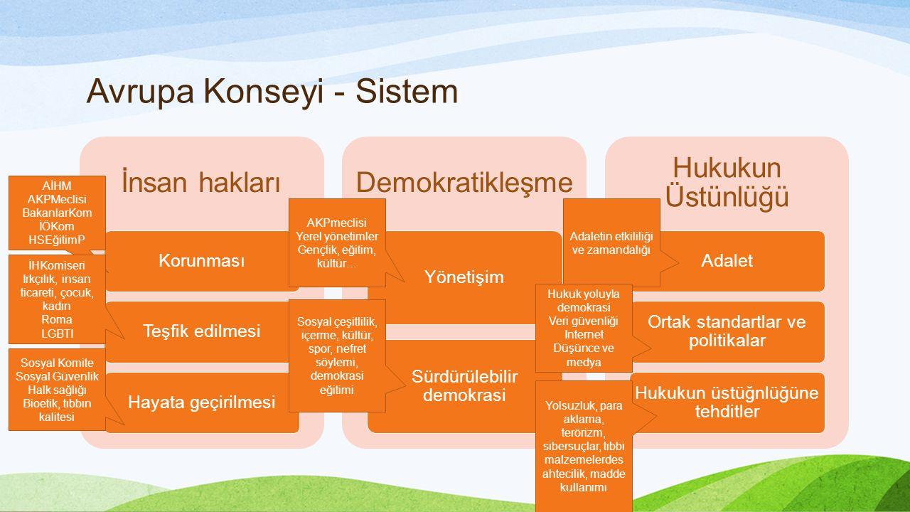 Avrupa Konseyi - Sistem