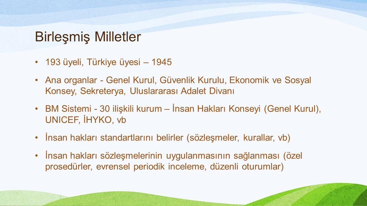 Birleşmiş Milletler 193 üyeli, Türkiye üyesi – 1945