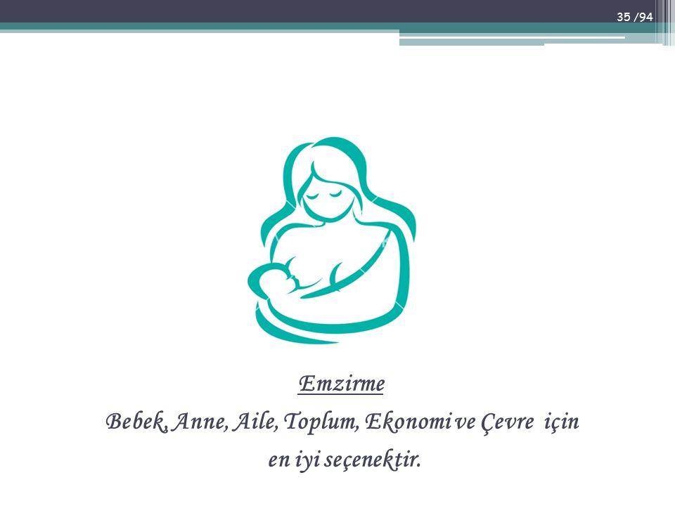 Bebek, Anne, Aile, Toplum, Ekonomi ve Çevre için