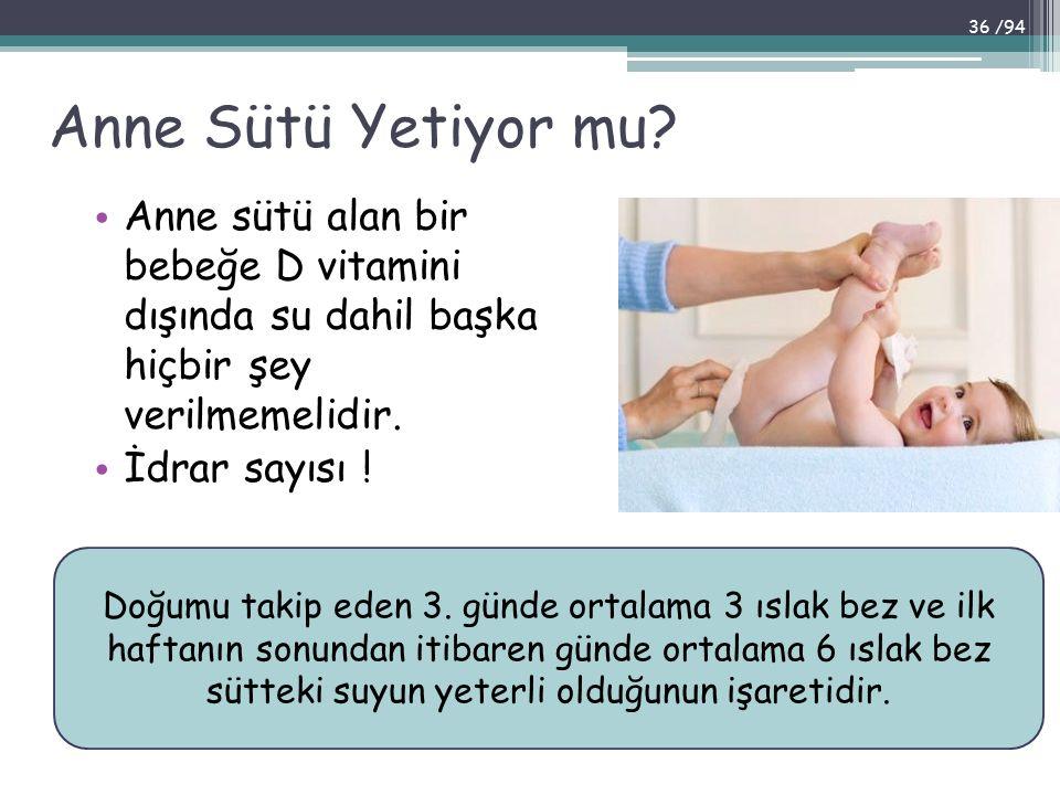 Anne Sütü Yetiyor mu Anne sütü alan bir bebeğe D vitamini dışında su dahil başka hiçbir şey verilmemelidir.