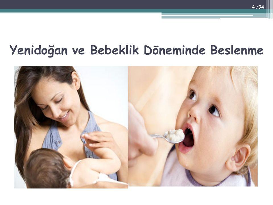 Yenidoğan ve Bebeklik Döneminde Beslenme