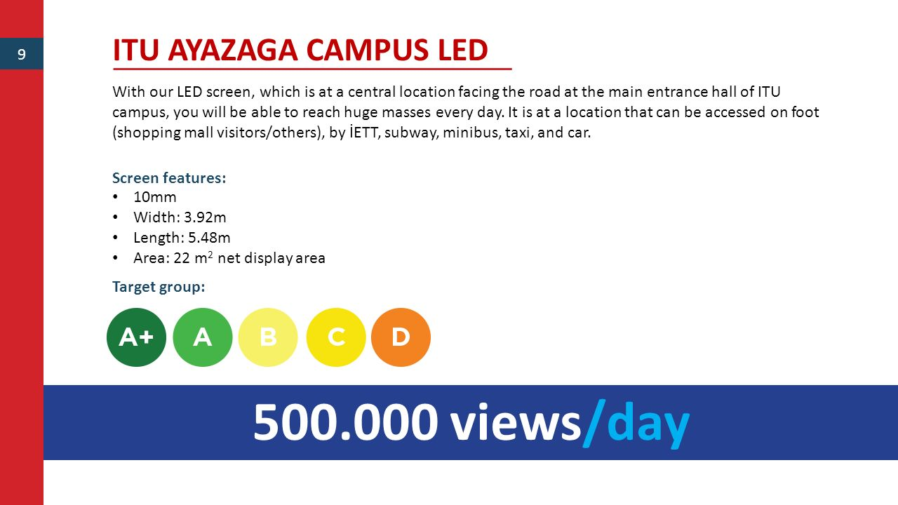 500.000 views/day ITU AYAZAGA CAMPUS LED 9