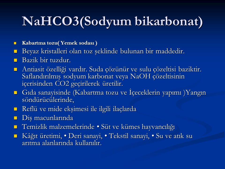 NaHCO3(Sodyum bikarbonat)