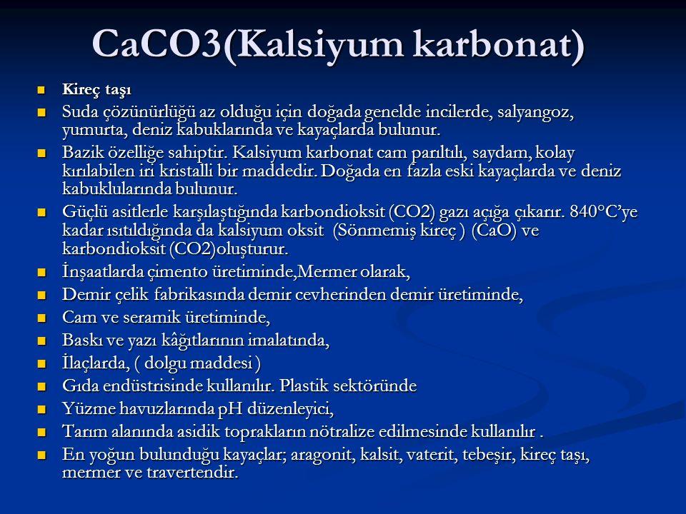 CaCO3(Kalsiyum karbonat)