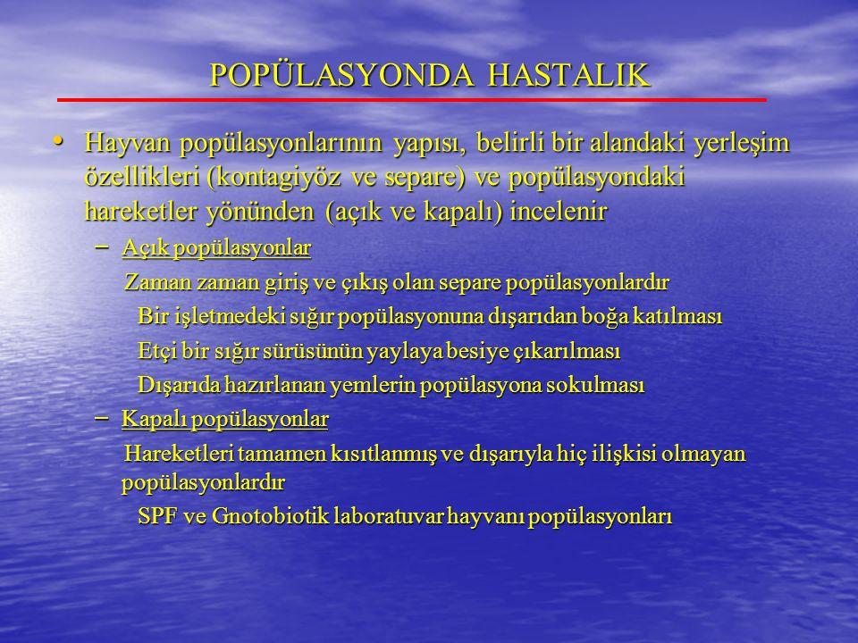 POPÜLASYONDA HASTALIK