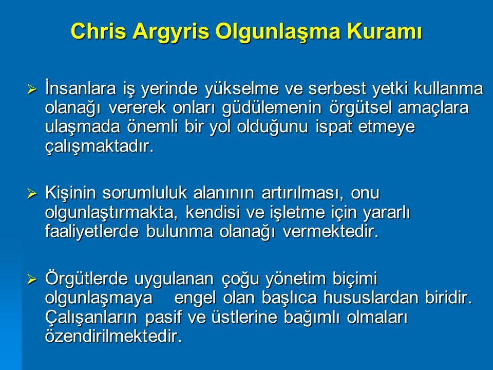 Chris Argyris Olgunlaşma Kuramı
