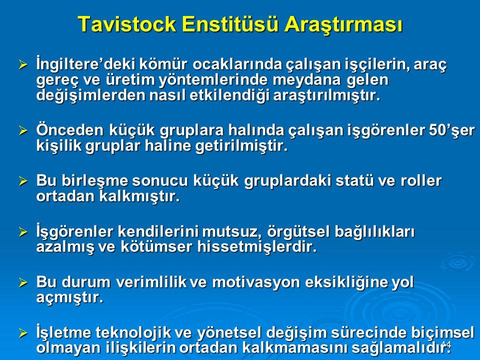 Tavistock Enstitüsü Araştırması