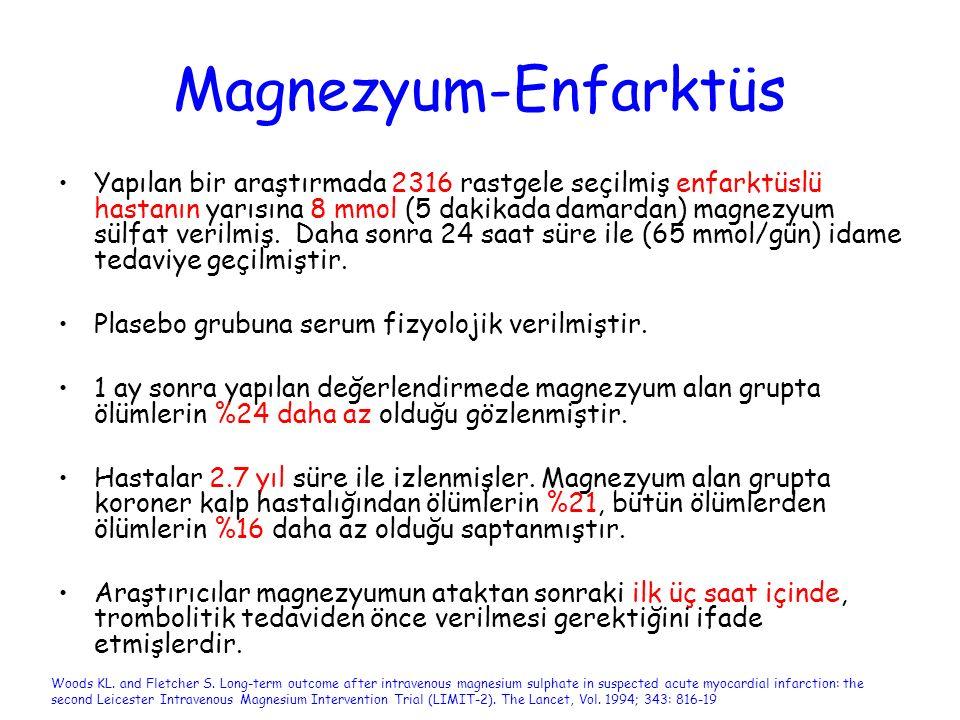 Magnezyum-Enfarktüs